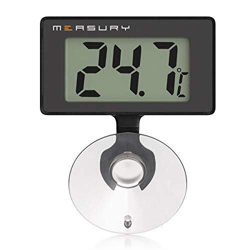 Measury Aquarium Thermometer Wasserdicht, Digitales Aquarien Thermometer für Süßwasser und Meerwasser TM10
