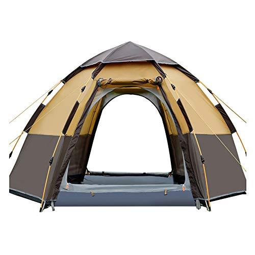 SSDAOO 5-8 Personas Tienda Hexagonal Multi-Persona Hexagonal Automático Tienda Impermeable Camping Camping Tienda Familia Ocio Tienda