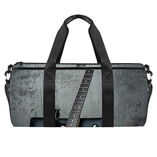 ASDFSD Bolsa de deporte para gimnasio con bolsa impermeable para viajes y fin de semana para guitarra eléctrica en una silla