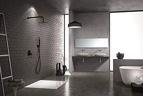 Conjunto de ducha empotrado Imex Milos Negro GPM029-NG