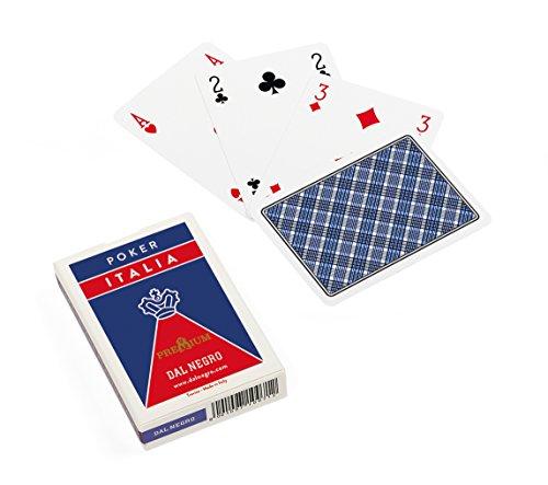 Dal Negro 21042- Poker Italia Blu, Carte da Gioco