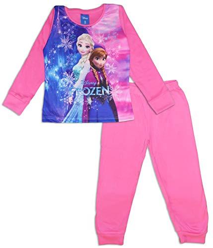 Disney Die Eiskönigin Mädchen Pyjama-Set lang Gr. 8 Jahre, Rose