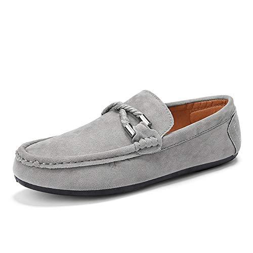 GPF-fei schoenen voor heren, mocassins, rijschoenen, bootschoenen, lazy schoenen, rond, teenschoenen, gestippeld, comfortabel, ademend, vrije tijd, rood, 41