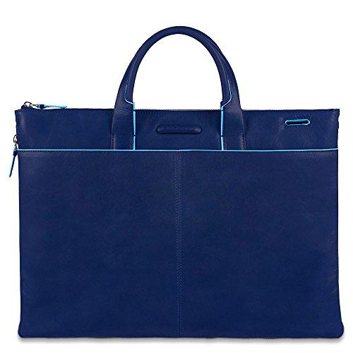 Piquadro Cartellina, Collezione Blue Square, 40 cm, Blu