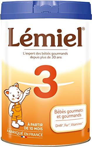 LEMIEL - Lait 3ème âge en poudre de 10 mois à 3 ans* 800g - Fabriqué en France