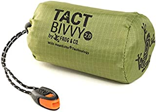 Tact Bivvy Compact Ultra Lightweight Sleeping Bag - 100% Waterproof Ultralight Thermal Bivy Sack Cover, Emergency Blanket ...