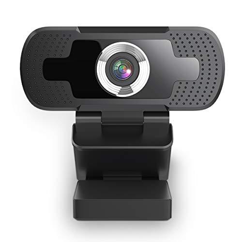 HOCOSY Webcam HD 1080P USB, Streaming Webcam mit eingebaut Mikrofone, Autofokus-Farbkorrektur, PC Webkamera für Laptop Desktop, TikTok, Skype, FaceTime, YouTube, Videoanrufe, Lernen, Konferenzen
