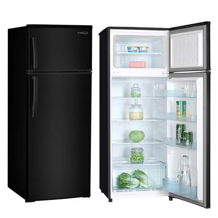 Premium PRF737HB 7.4 cu. ft. Refrigerator with Top Freezer, (Black)
