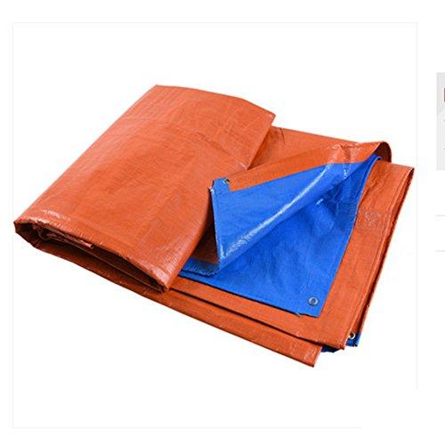ZhuFengshop geweven zeil van stof met driewieler ter bescherming van de zon, blauw, oranje, tweekleurig, outdoor, UV-bestendig, scheurbestendig, Prova d