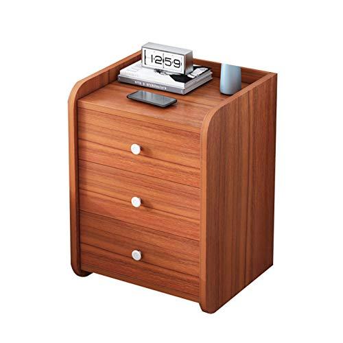 Casillero multifuncional, gabinete de almacenamiento junto a la cama, mesita de noche simple con cajones, mesa de café, mesa de café de sala de estar fuerte y duradera, utilizada en oficinas y dormi