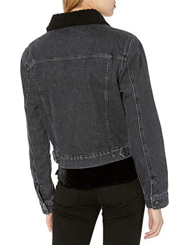 HUDSON Jeans Georgia 女子短款保暖衬里牛仔夹克