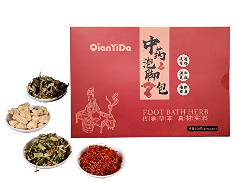 30 Bags Foot Bath Herb, 31 oz Foot Soak Herbal Chinese Medicine for Foot Reflexology Herbs Spa 900g 传统中药泡脚 真材实料足量 老姜 藏红花 艾草 益母草 四味草药混合 足浴包