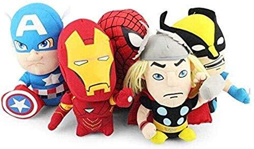 N-K Animal de Peluche 5 cantidad/Juego Las Marionetas de Peluche Iron Man Spiderman Capitán Juguete de Felpa