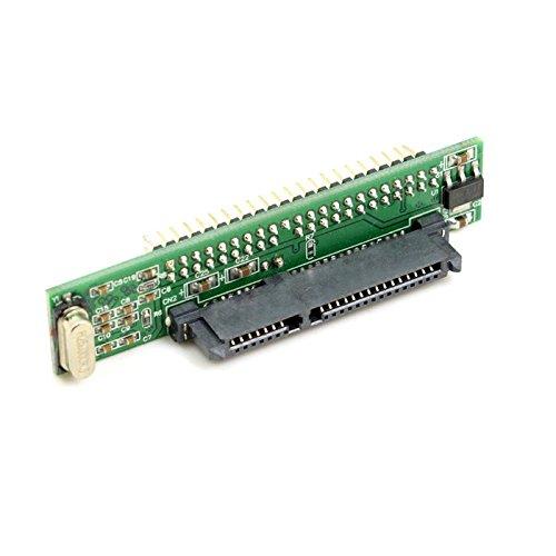"""Goliton 44pin 2,5 """"IDE HDD Drive macho a 7 + 15 pines adaptador SATA IDE Mujer tarjeta de conversi¨®n a SATA adaptador convertidor-verde"""