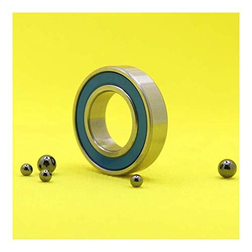 FMTZZY Rodamiento de repuesto 6902RS 6902-2RS híbrido rodamientos de cerámica 15 x 28 x 7 mm, ABEC-5 1 pieza para soportes inferiores de bicicleta y repuestos 6902 RS 2RS Si3N4 rodamientos de bolas