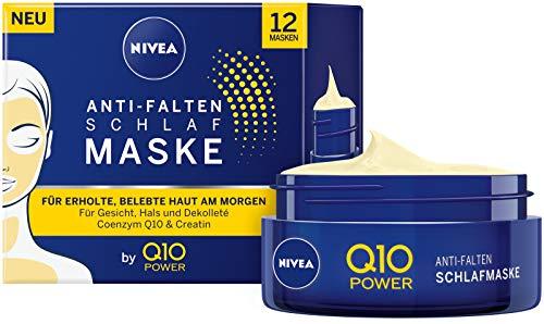 Nivea Q10 Power Slaapmasker, anti-rimpel, verpakt per 1 stuks (1 x 50 ml), strak en verzorgend gezichtsmasker, coole gezichtsverzorging voor een ontspannen en verkwikkende huid 's ochtends