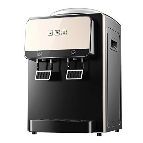 S-AIM Dispensador de Enfriador de compresor de encimera - Dispensador de Agua, Agua Caliente y fría, Talla única, Negro