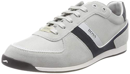 BOSS Herren Glaze_Lowp_mx Sneaker, Open Grey64, 42 EU, 8 UK