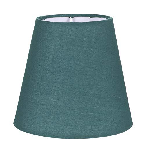 FRCOLOR Pantalla pequeña de tela para lámpara de araña, pantalla de lámpara, protección contra el polvo, accesorio para lámpara de mesa y lámpara de pie, 5,5 x 5,5 x 5 cm, color verde oscuro