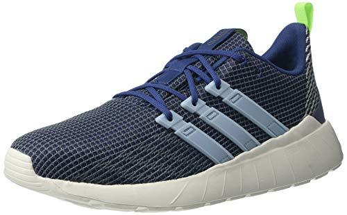 adidas mens Questar Flow Sneaker Running Shoe, Blue/White/Yellow, 8 US