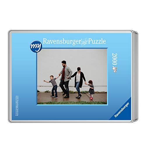 Ravensburger Fotopuzzle 49 bis 2000 Teile Puzzle zum Selbstgestalten - personalisierte Fotogeschenke für Kinder und Erwachsene (2000 Teile in hellblauer Metallbox - Querformat)