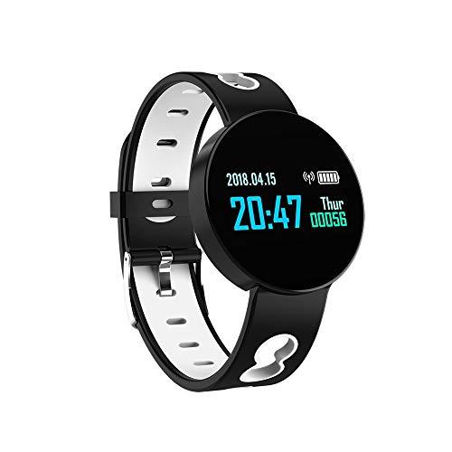 WuMei101 Reloj inteligente, Rastreador de fitness con oxígeno de sangre, presión arterial, monitor de frecuencia cardíaca, reloj IP67 impermeable inteligente de forma física (para hombres y mu
