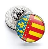 Gemelolandia   Pin de Solapa Magglass Bandera de Comunidad Valenciana 16mm   Pines Originales Para Regalar   Para las Camisas, la Ropa o para tu Mochila   Detalles Divertidos