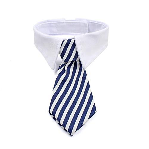 2PCS Dog Bow Tie Pet Collar/Tie Series Perfect voor Wedding Party Accessories Kostuum Comfortabele stoffen Fit Handgemaakte reisdecoratie Essentials - blauw, rood