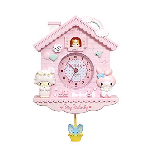 NOBCE Kids Wall Clock 12 Inch Cartoon Swing Girls Children Wall Clock Quartz Clock Home Decro for Bedroom