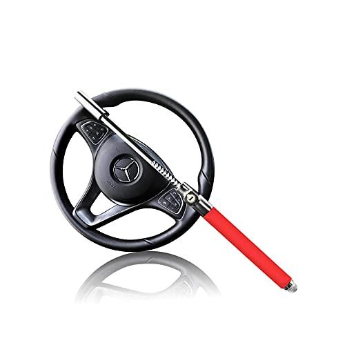 MONOJOY Car Steering Wheel Lock Universal Fit Vehicles with 3 Keys Red