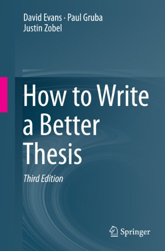 How to Write a Better Thesis (English Edition)