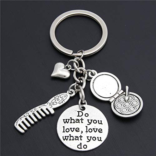ZPZZPY Friseur Schlüsselanhänger Geschenk für Friseur Kommode Schlüsselbund Make-up Schlüsselring für Frauen tun, was Sie lieben