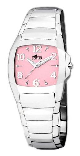 Reloj Lotus M Acero- Esfera Rosa