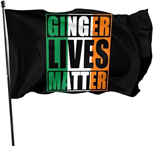 N/A Drapeau Breeze 3 X 5 Ginger Lives Matter Drapeau Irlandais 100% Polyester Drapeaux Translucides Monocouche 90 X 150CM - Bannière 3 'X 5'