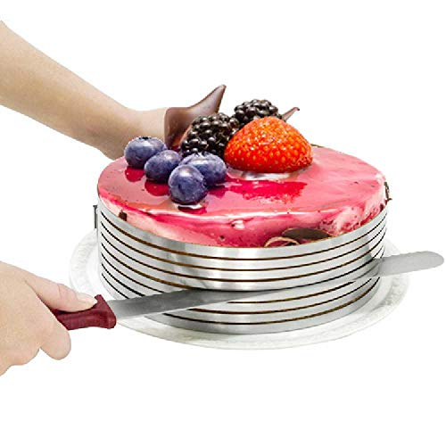 Moule Télescopique De Gâteau D'acier Inoxydable Petit Rond Couches Mousse Diy Outil De Cuisson Bague de gâteau