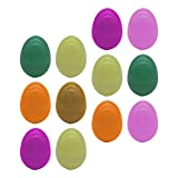TOYANDONA 12Pcs Uova di Pasqua di Plastica C Colorato Vuoto Gusci di Uova per La Pasqua di Riempimento Regalo Tratta Cestino Stuffers Filler ( Random di Colore )