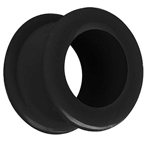 Piersando Silikon Flesh Tunnel Ohr Plug Piercing Ohrpiercing Extra Big Flexibel Weich Soft XXL 20mm Schwarz