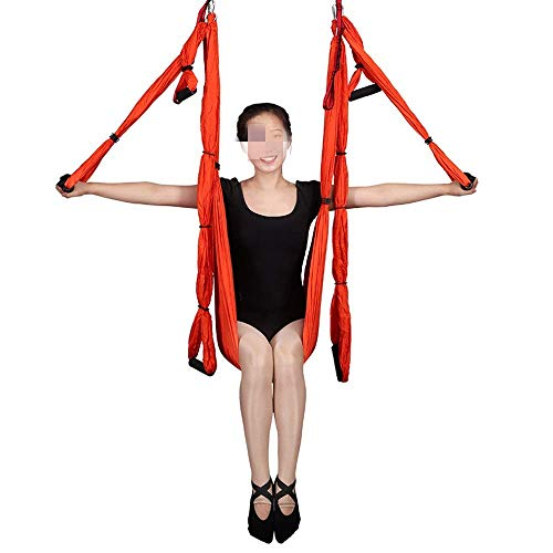 Yoga Indoor Anti-Gravity Hangmat Hangmat Parachute Doek Hangmat Studio Luchtbed Swing Bed Silk Swing Swing (Kleur: blauw, afmeting: 250x150cm)