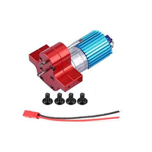 ACHICOO Modell Motorzubehör, Premium 370 Bürstenmotor mit Alu-Kühlkörper-Getriebesatz für 4x4 6x6 Verbesserte Teile Getriebebaugruppe (schwarz) Kinder, Freunde