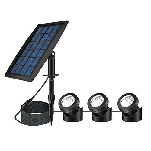 Focos de solar,SUAVER LED luz solar del jardín luz de estanque, impermeable...