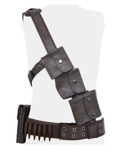 miccostumes Men's Sole Survivor Cosplay Belts Set (Men Small) Grey