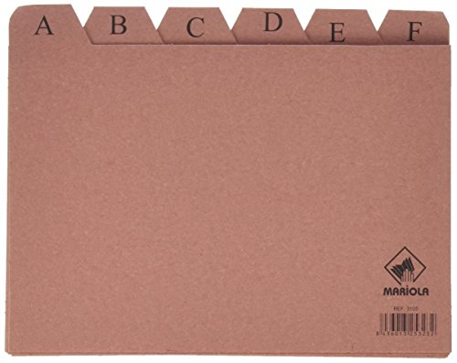 Mariola 3105 - Índice alfabético 24 posiciones cartón 215x160 mm