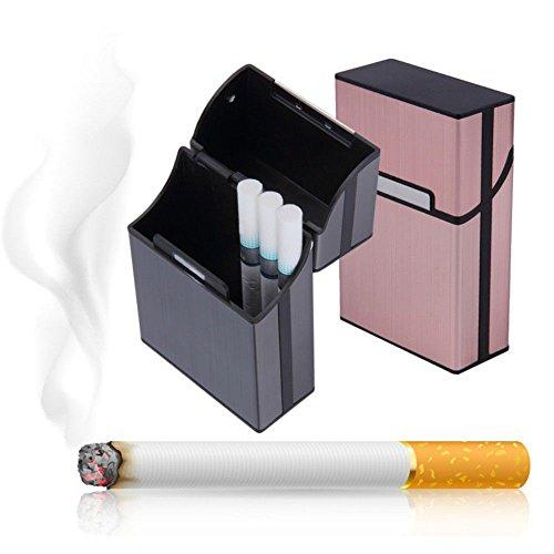 WSERE Set of 2 Cigarette Case for Men Women, Cigarette Box Holder King Size Anti-Collision Splash Proof and Scratch Resistant Holds 20 Cigarette Storage Case