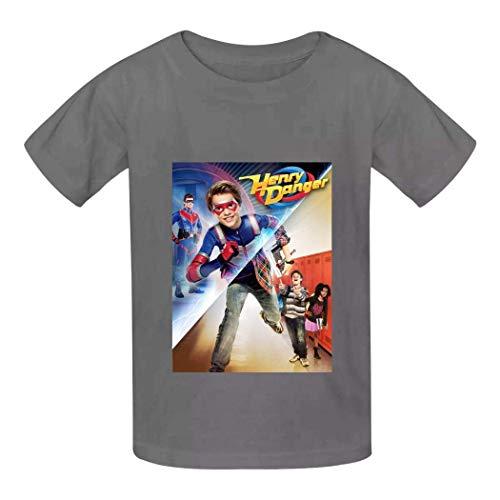 Camisetas para niños para jóvenes de Manga Corta He-nRY Da-nG-eR Crew-Neck Cotton...