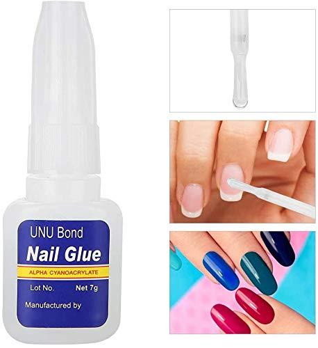 Nail Glue, Professional Nail Art Lijm Folie Rhinestone Sticker Adhesive DIY Poolse Nail Polish Glue (7 g) lsmaa
