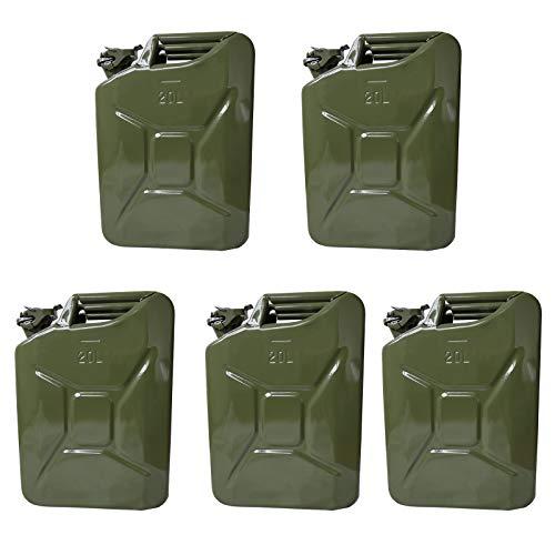 5 Benzinkanister Kraftstoffkanister Metall 20 Liter Olivgrün