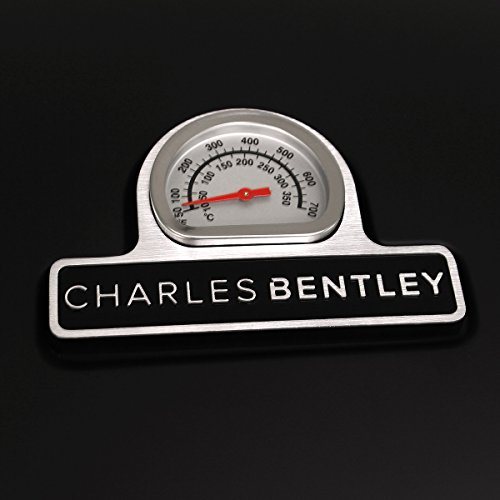 Charles Bentley 4 Burner Premium Gas BBQ plus side burner - Black
