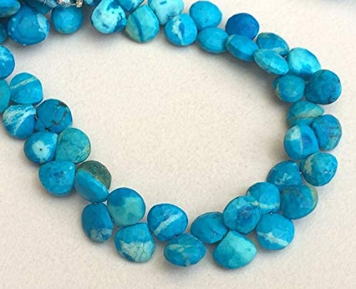 GemAbyss Beads Gemstone 1 Strand Luxury goods Turquoise 40% OFF Cheap Sale Natural Heart Faceted