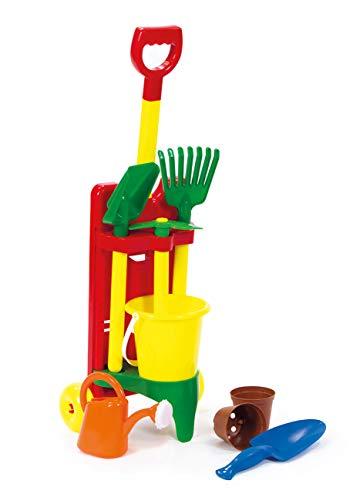 Haberkorn Kinder Gartenwerkzeug im Trolley Schaufel Gieskanne Töpfe UVM