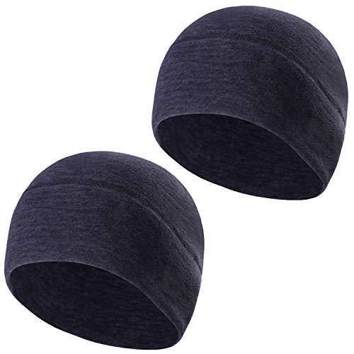 TAGVO Winter-Fleece-Mütze, Running Beanie Mütze Kopfbedeckungen mit Ohrenschützer, Helm Liner für Erwachsene Frauen und Männer elastische Größe Universal